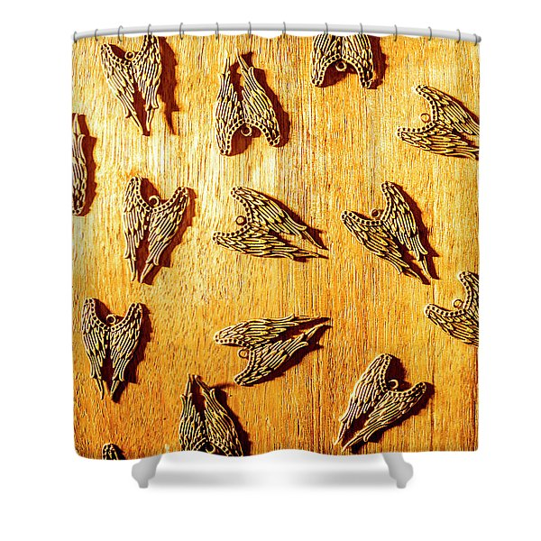 Metal Wing Collective Shower Curtain