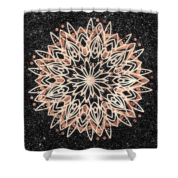 Shower Curtain featuring the digital art Metallic Mandala by Bee-Bee Deigner
