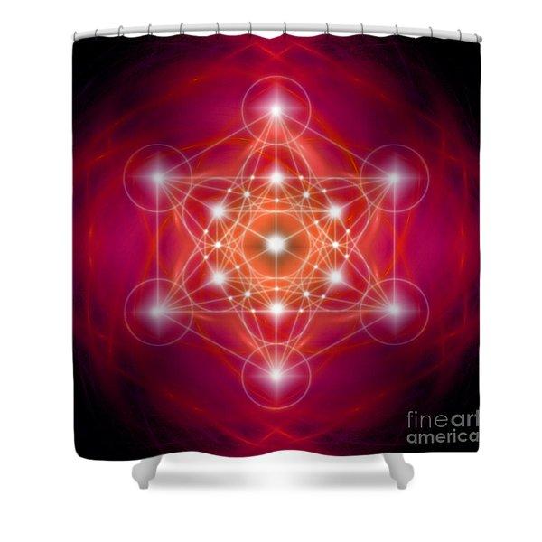 Metatron's Cube Female Energy Shower Curtain