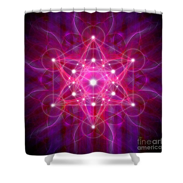Metatron's Cube Reflection Shower Curtain