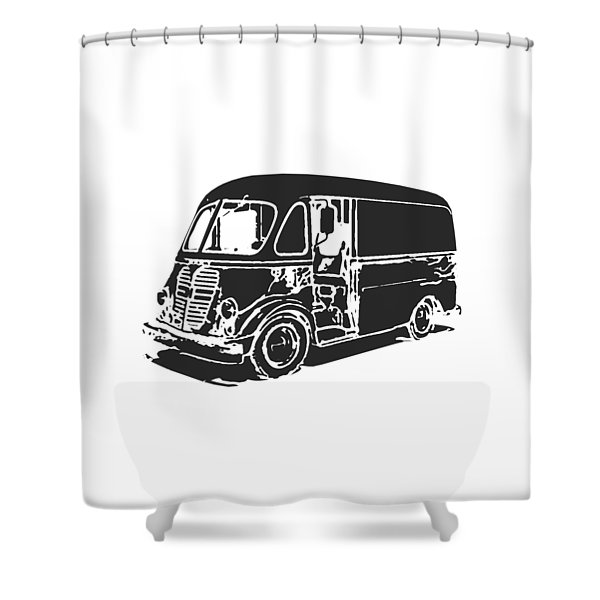 Metro Step Van Tee Shower Curtain