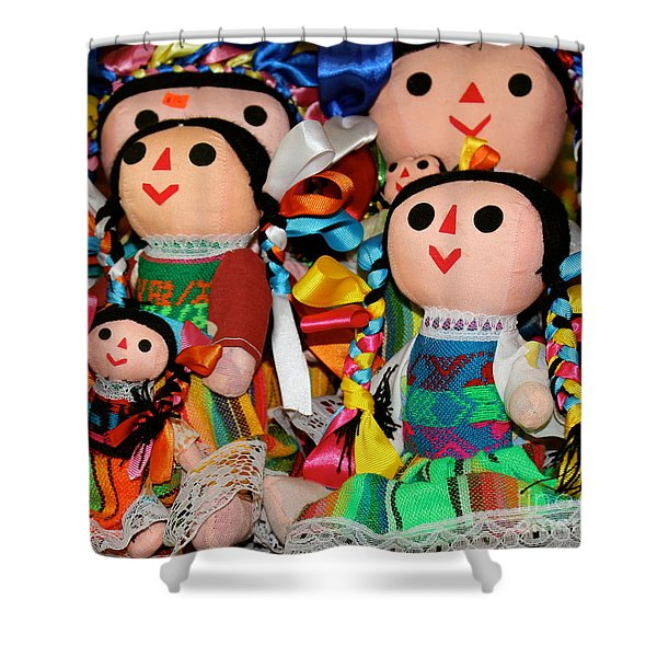 Mexican Dolls Shower Curtain
