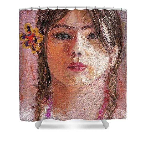 Mexican Girl Shower Curtain