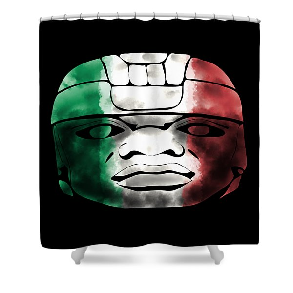 Mexican Olmec Shower Curtain