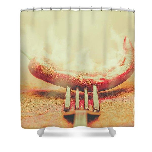 Mexican Restaurant Artwork Shower Curtain