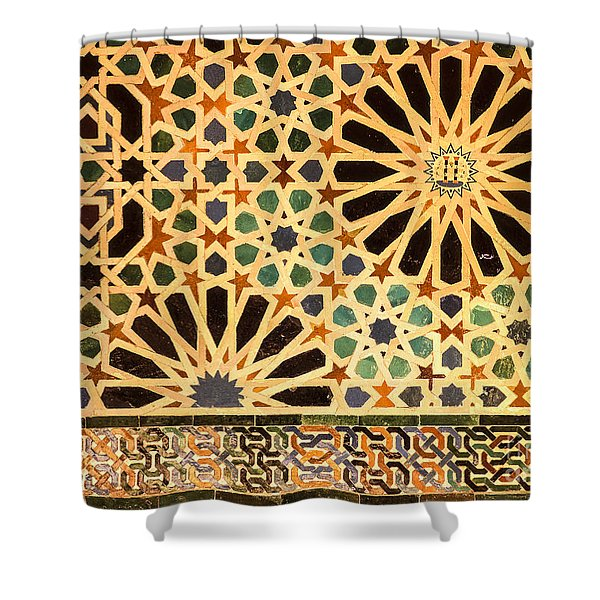 Mexuar Room Details Alhambra Palace Shower Curtain