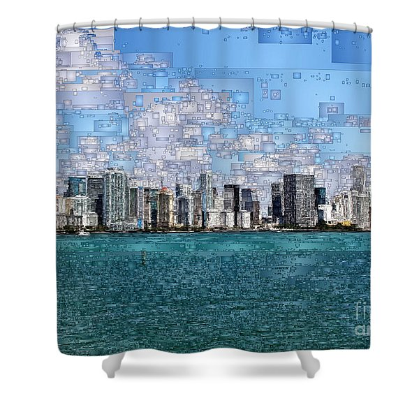 Miami, Florida Shower Curtain