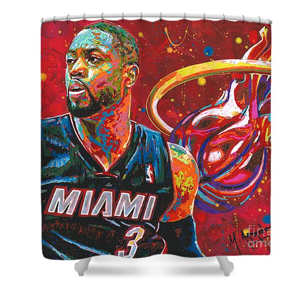 Miami Heat Legend Shower Curtain
