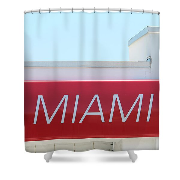 Miami Sign Shower Curtain
