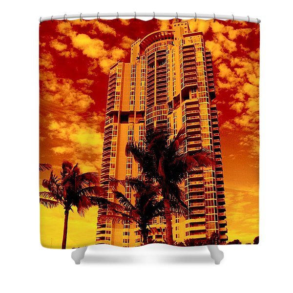 Miami South Pointe IIi Highrise Shower Curtain