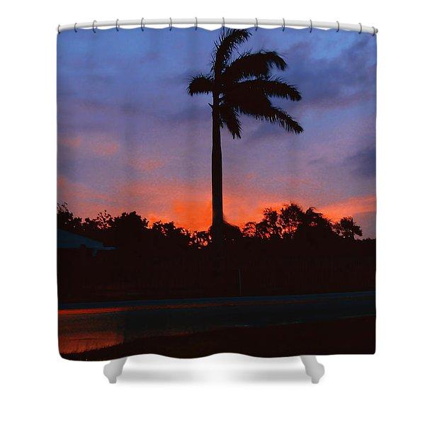 Miami Sunset Shower Curtain