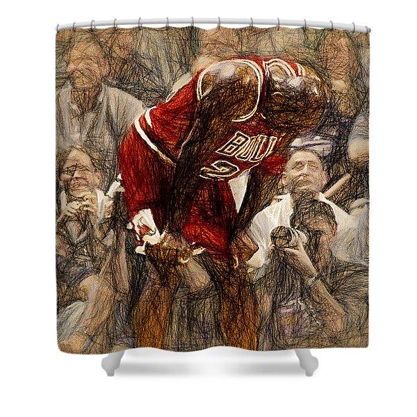 Michael Jordan The Flu Game Shower Curtain