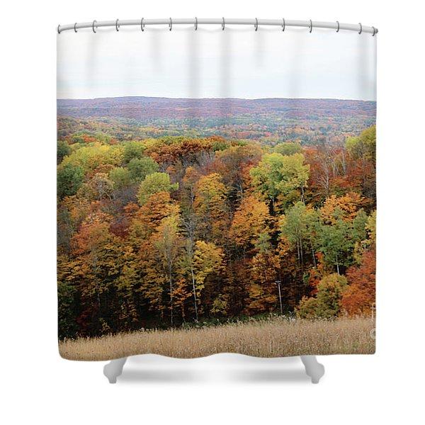 Michigan Autumn Shower Curtain