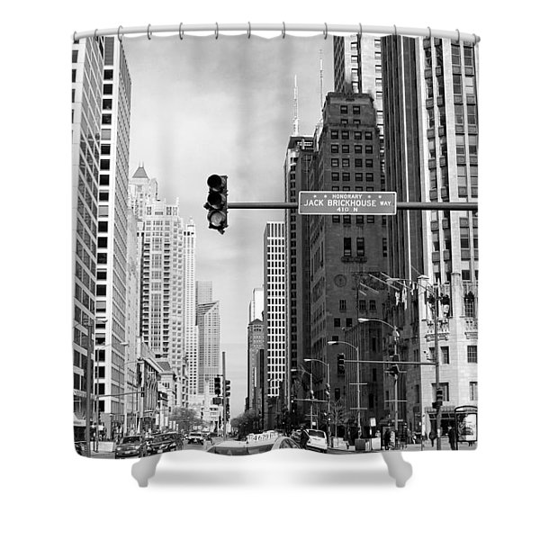 Michigan Ave - Chicago Shower Curtain