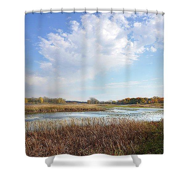 Michigan Marshland Shower Curtain