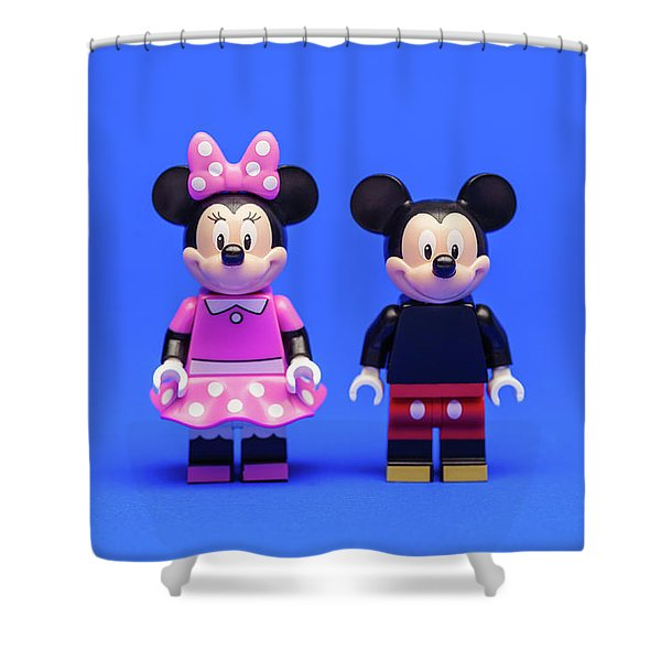 Mickey And Minnie Shower Curtain