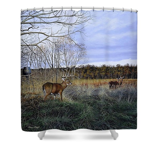 Take Out - Deer Shower Curtain