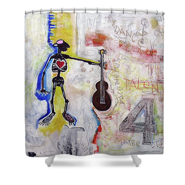 Middle-aged Musician Shower Curtain