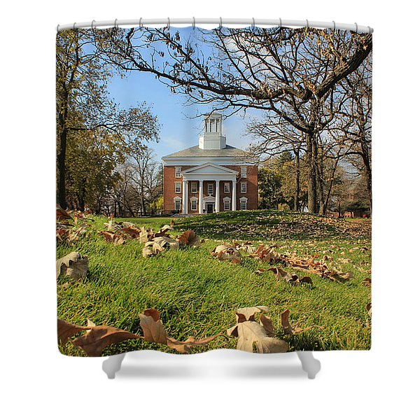 Middle College On An Autumn Day Shower Curtain