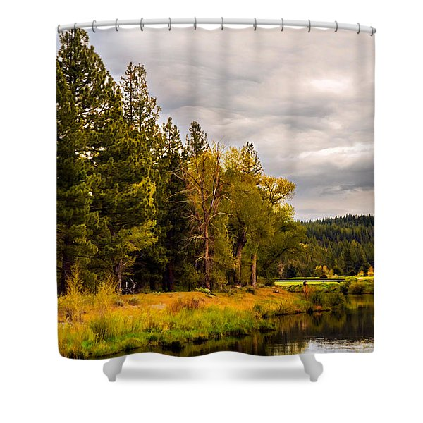 Middle Fork Shower Curtain