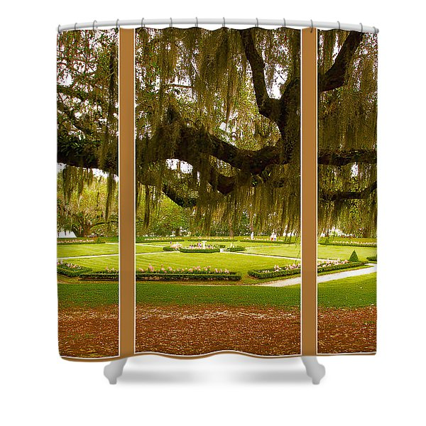 Middleton Gardens Triptych Shower Curtain