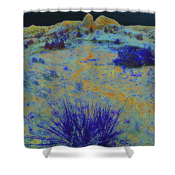 Shower Curtain featuring the photograph Midnight At The Burning Coal Vein by Cris Fulton