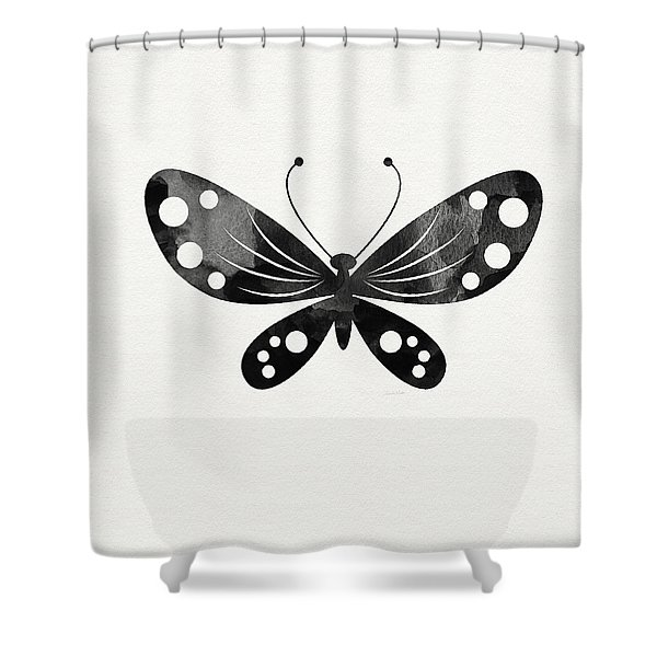 Midnight Butterfly 3- Art By Linda Woods Shower Curtain