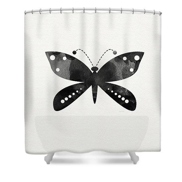 Midnight Butterfly 4- Art By Linda Woods Shower Curtain