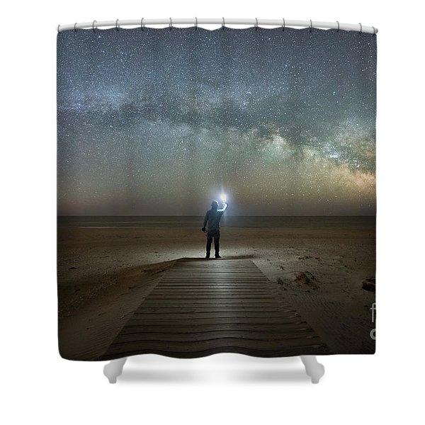 Midnight Explorer At Assateague Island Shower Curtain