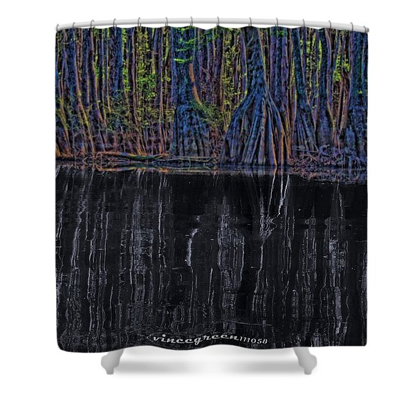 Midnight In The Land Of Hobbits And Faeries Shower Curtain