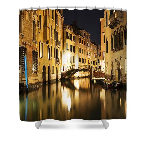 Midnight In Venice Shower Curtain