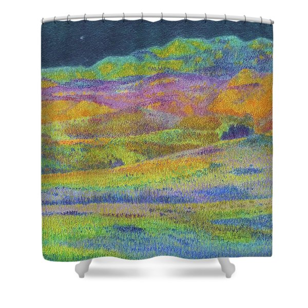Shower Curtain featuring the painting Midnight Magic Dream by Cris Fulton