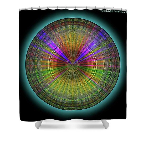 Shower Curtain featuring the digital art Midnight Sunset by Visual Artist Frank Bonilla