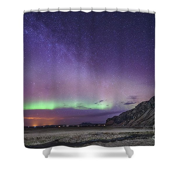 Midnight Symphony Shower Curtain