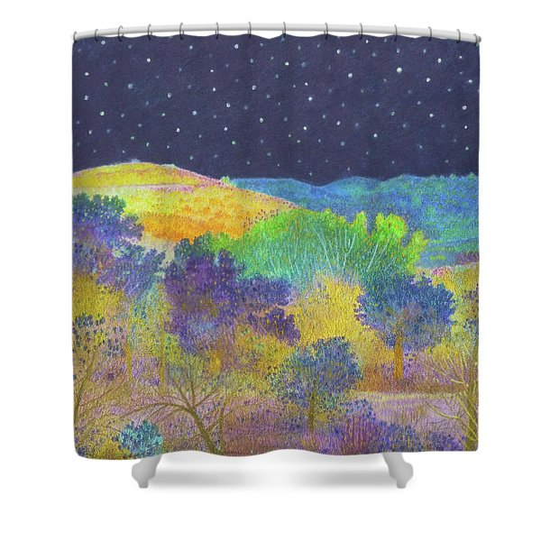 Midnight Trees Dream Shower Curtain