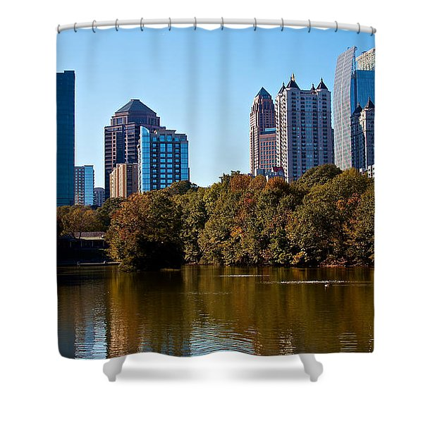 Midtown In The Fall Shower Curtain