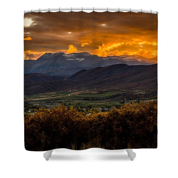 Midway Utah Sunset Shower Curtain