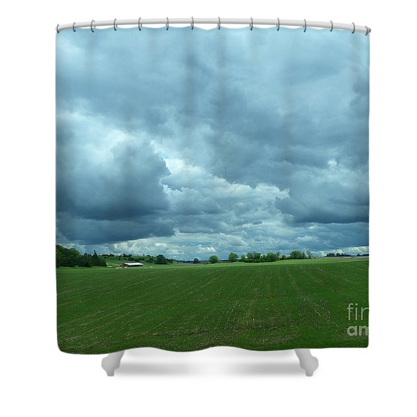 Midwestern Sky Shower Curtain