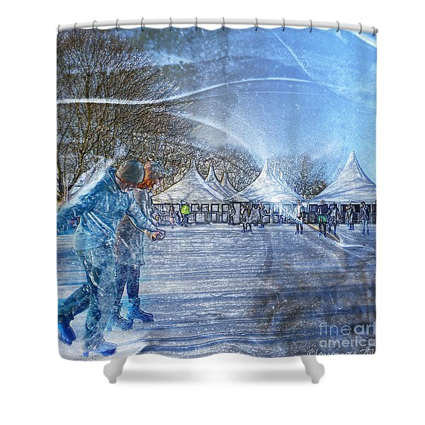 Midwinter Blues Shower Curtain