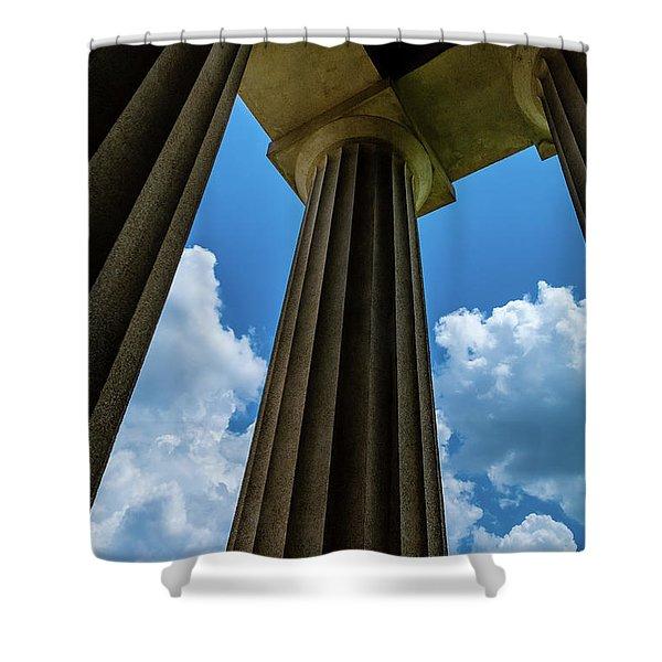 Mighty Columns  Shower Curtain