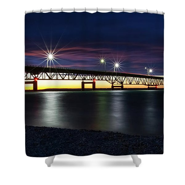 Shower Curtain featuring the photograph Mighty Mac 3 by Heather Kenward