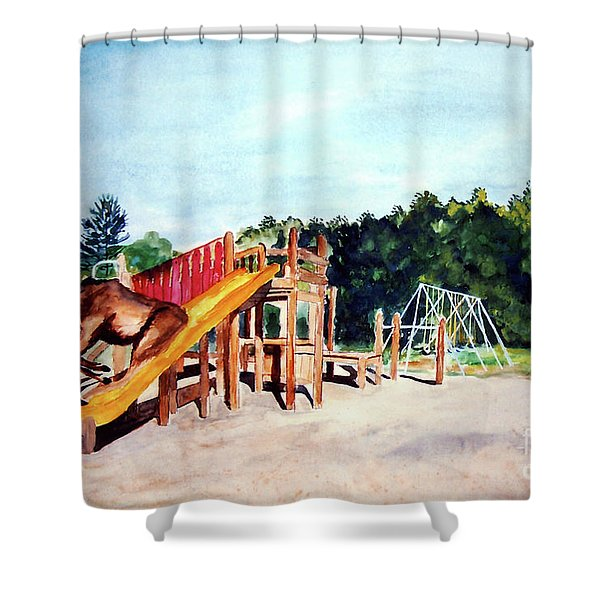 Mildred Goes Down The Slide Shower Curtain
