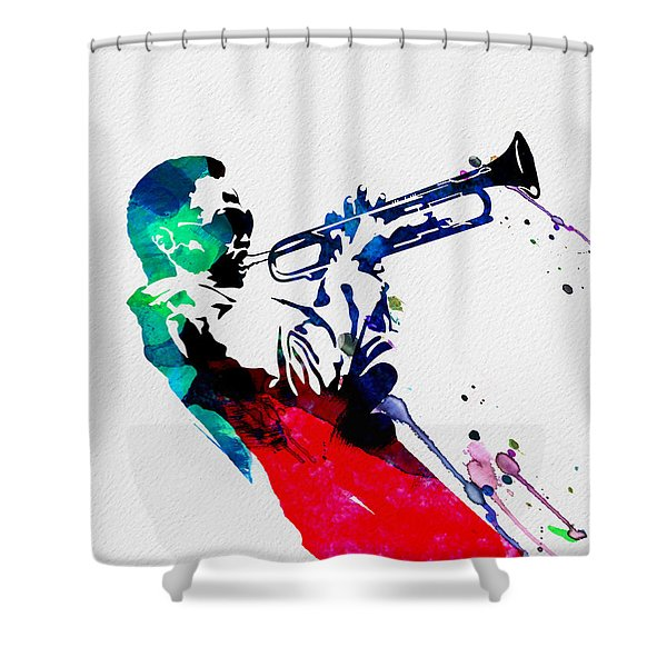 Miles Watercolor Shower Curtain