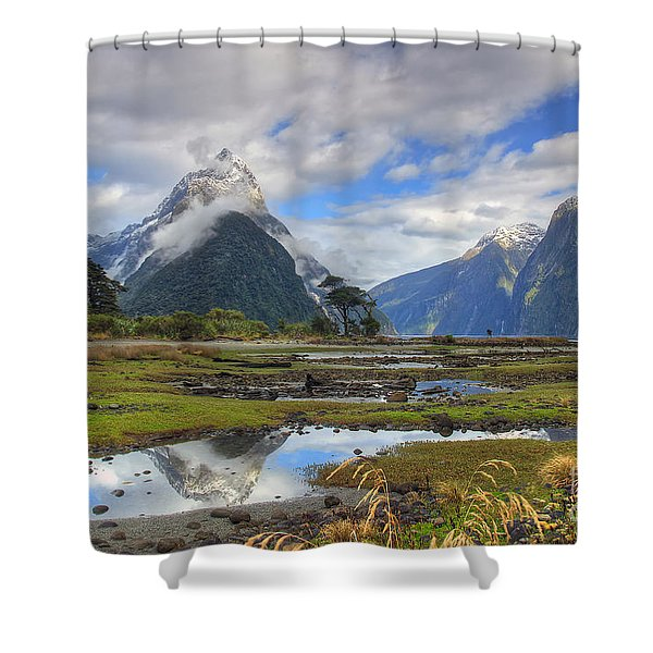 Milford Mirror Shower Curtain