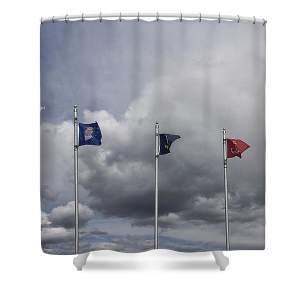 Military Branch Flags Shower Curtain