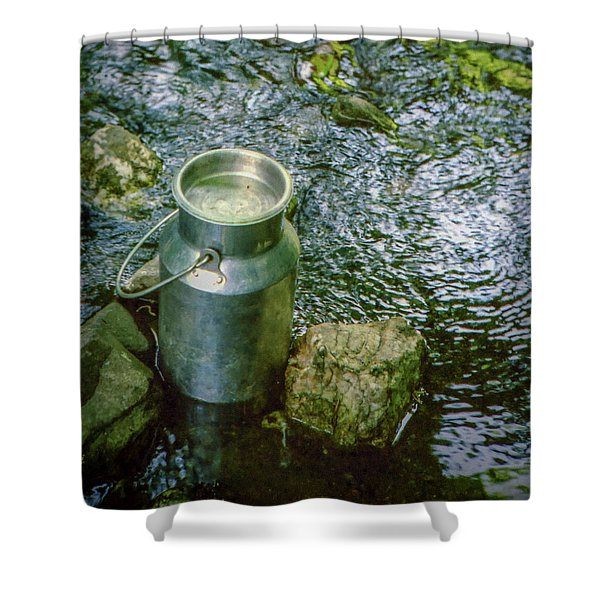 Milk Can - Wales Shower Curtain