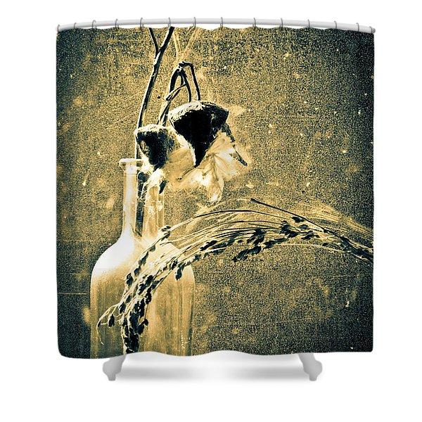 Milk Weed And Hay Shower Curtain