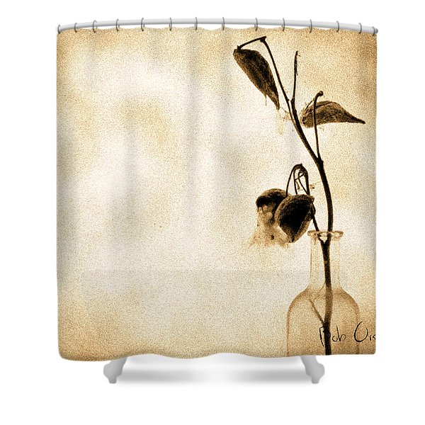 Milk Weed In A Bottle Shower Curtain