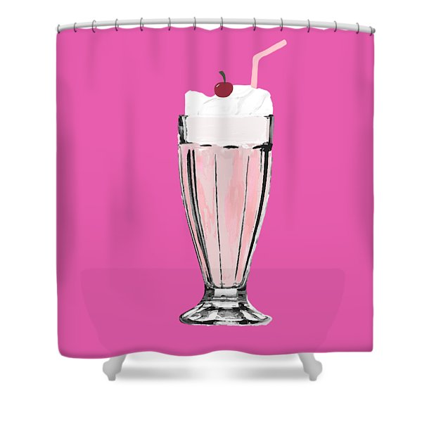 Milkshake Shower Curtain