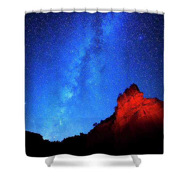 Milky Way And Caprock Shower Curtain